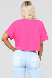 Your Competition Crop Top - Hot Pink