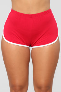 Conquering Mountains Shorts - Red