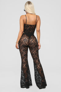 Love Lace Without You Pants Set - Black