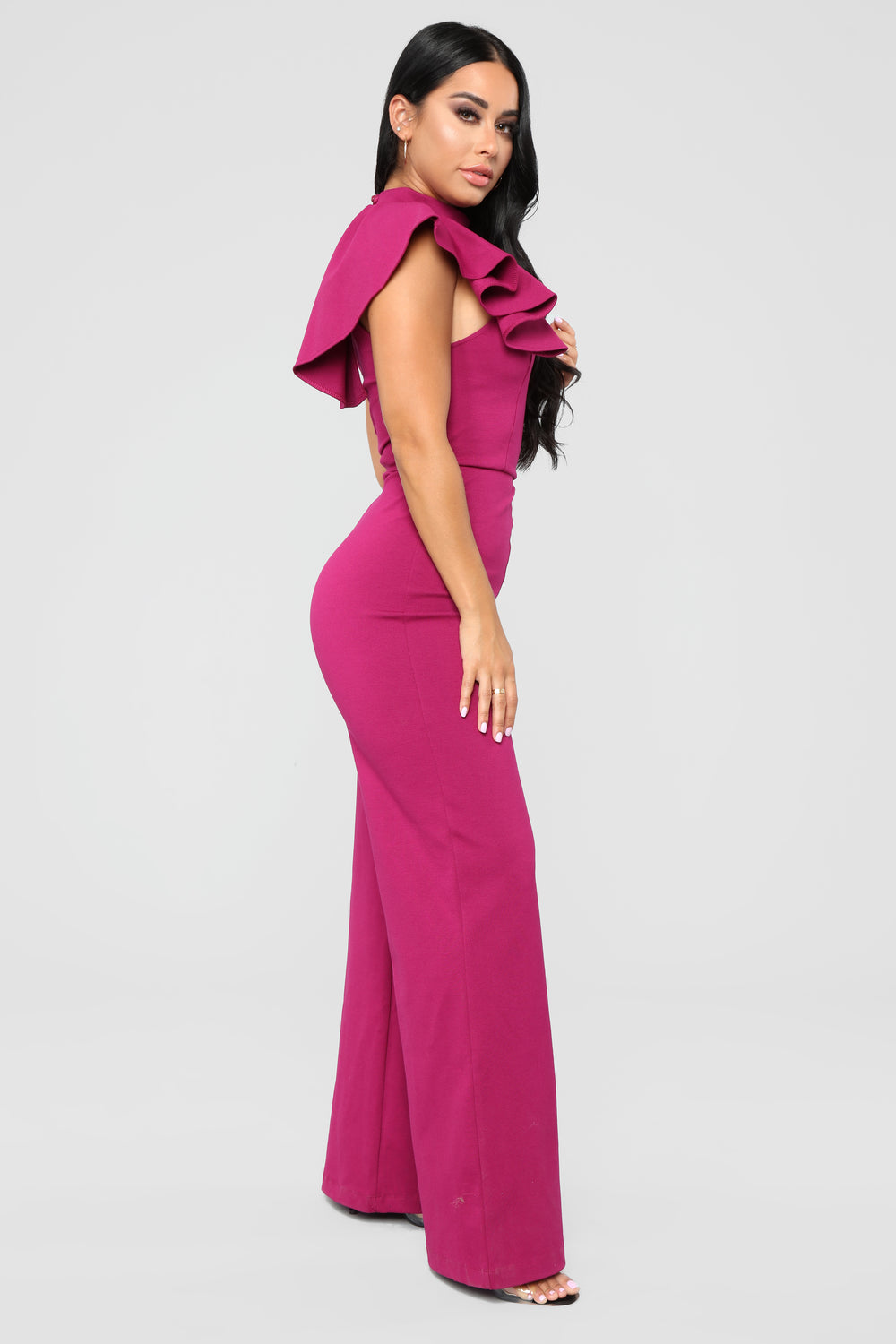 On The Runway Jumpsuit - Magenta