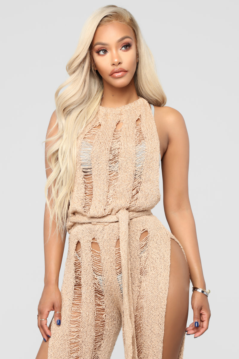 A Touch Of Sun Cover Up - Taupe