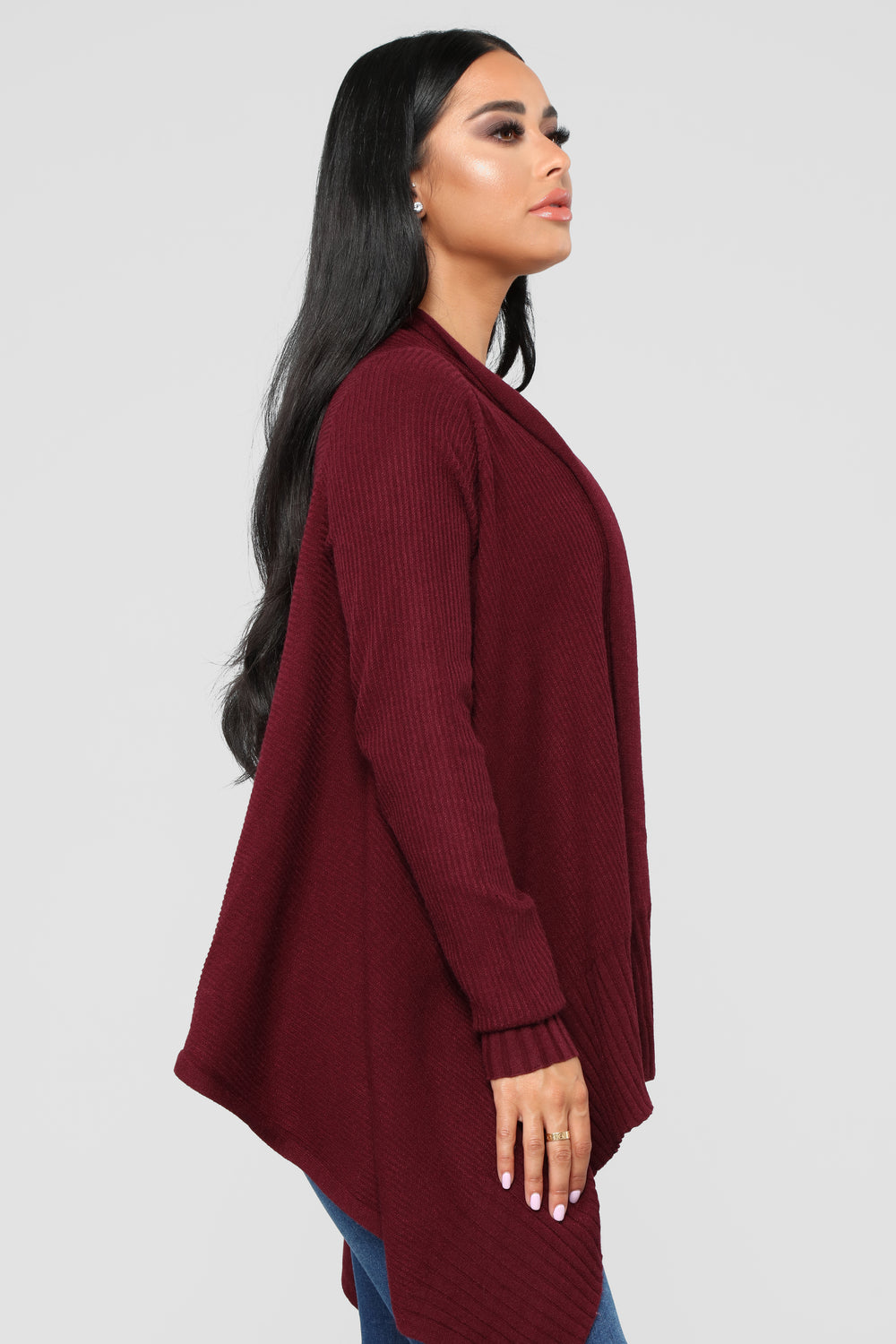 Heartbreak Hotel Cardigan - Wine