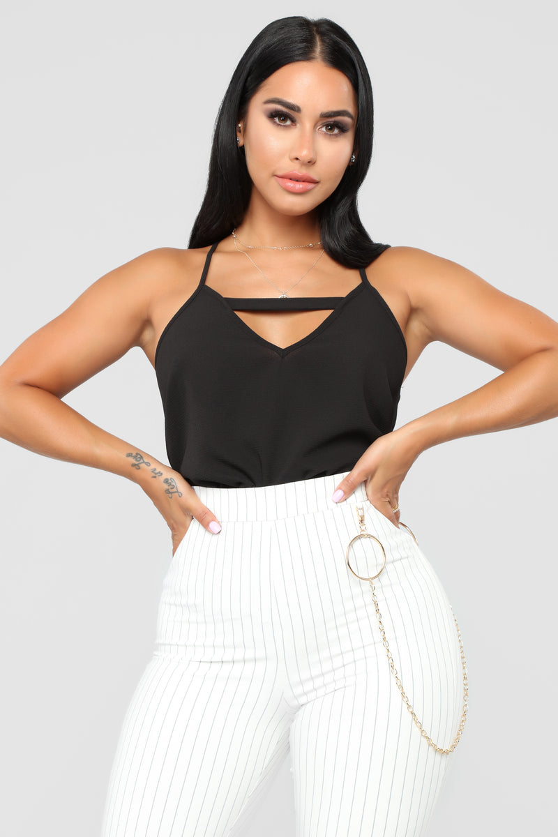 All Mine Cut Out Cami - Black