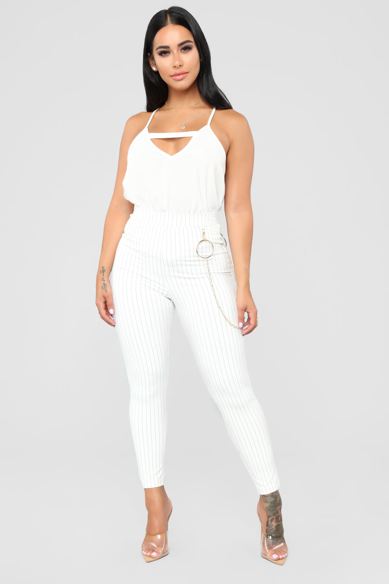 All Mine Cut Out Cami - White