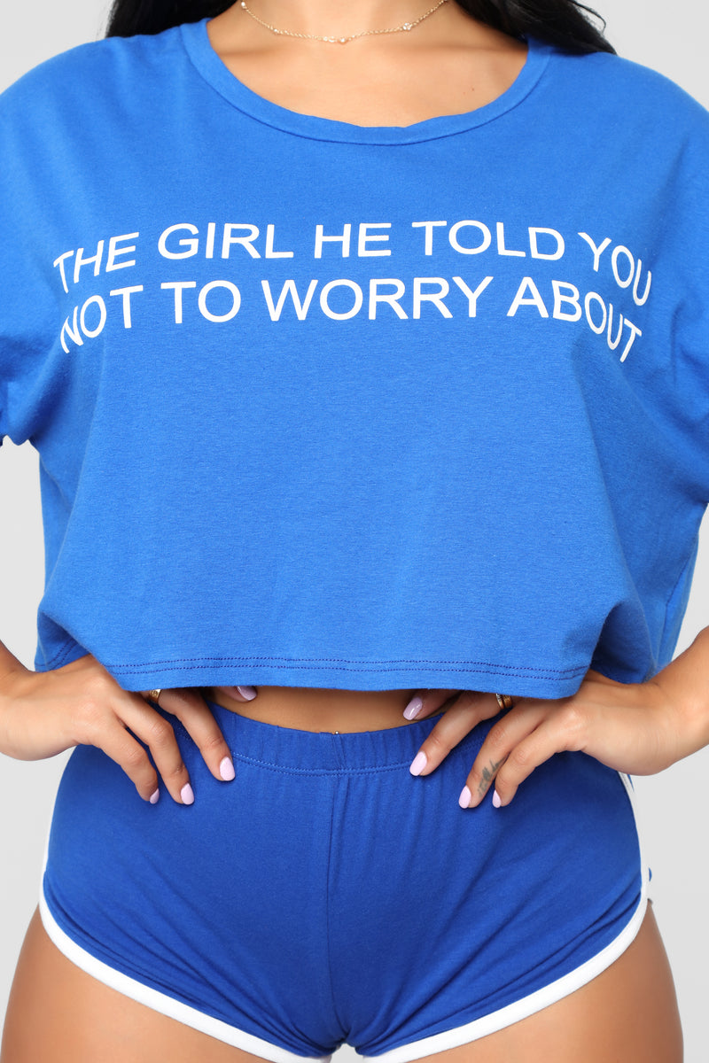 Your Competition Crop Top - Royal