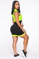 Feelin' All Types Of Ways Mesh Mini Dress - Neon Green