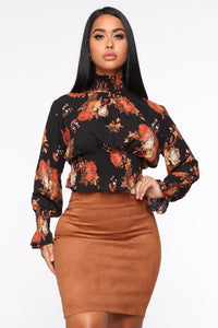 Beleaf In Yourself Blouse - Black/combo