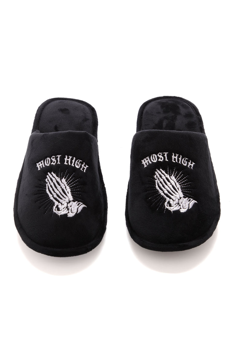 Most High Slippers - Black/White