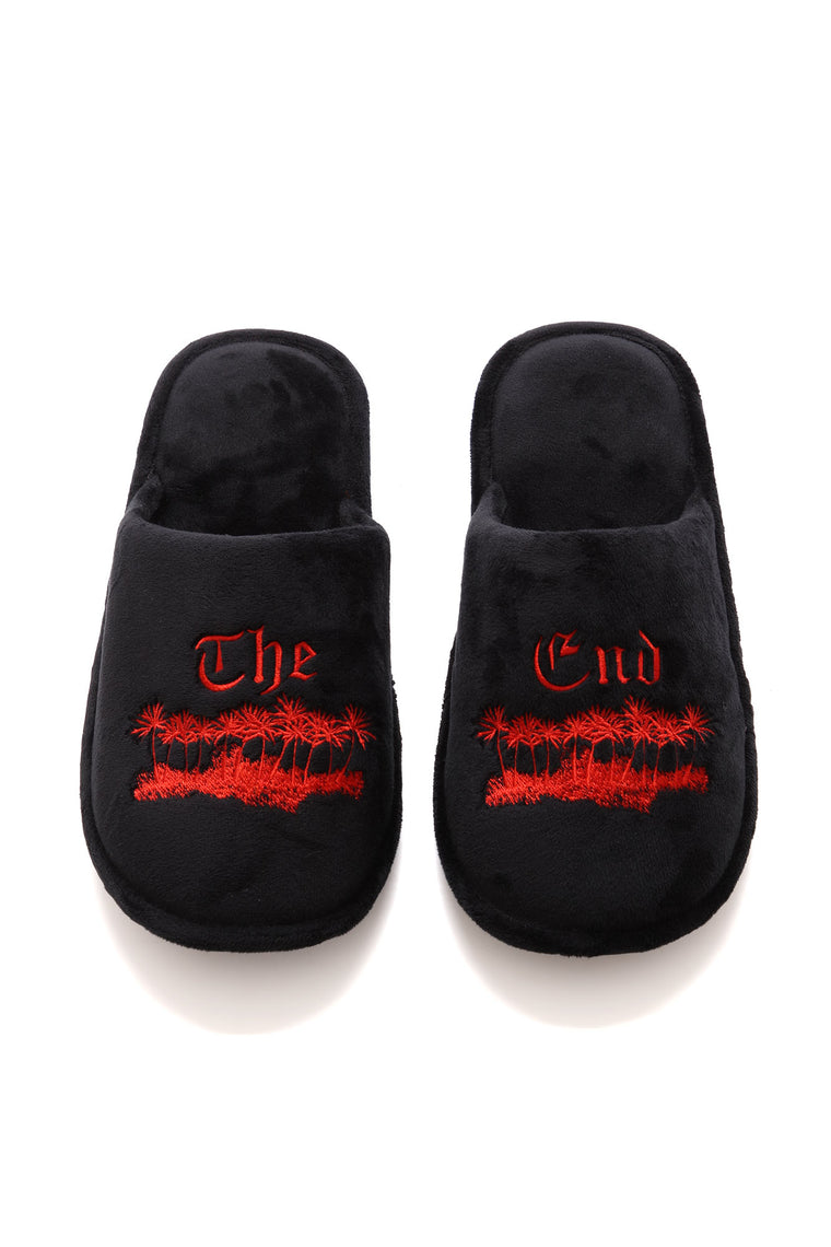 The End Slippers - Black/Red