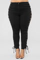 Cross My Side Pants - Black