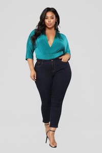 Denise Bodysuit - Teal Angle 9