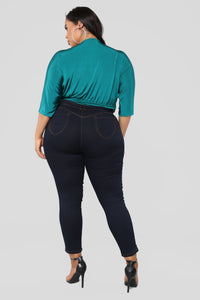 Denise Bodysuit - Teal Angle 12