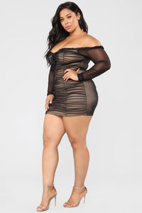 Maura Mesh Dress - Black Angle 10