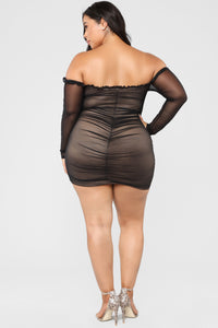 Maura Mesh Dress - Black Angle 7