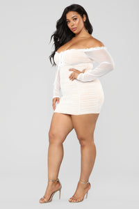 Maura Mesh Dress - White Angle 11