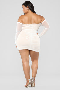 Maura Mesh Dress - White Angle 13