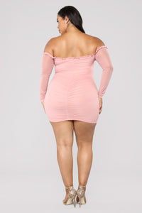 Maura Mesh Dress - Mauve Angle 8