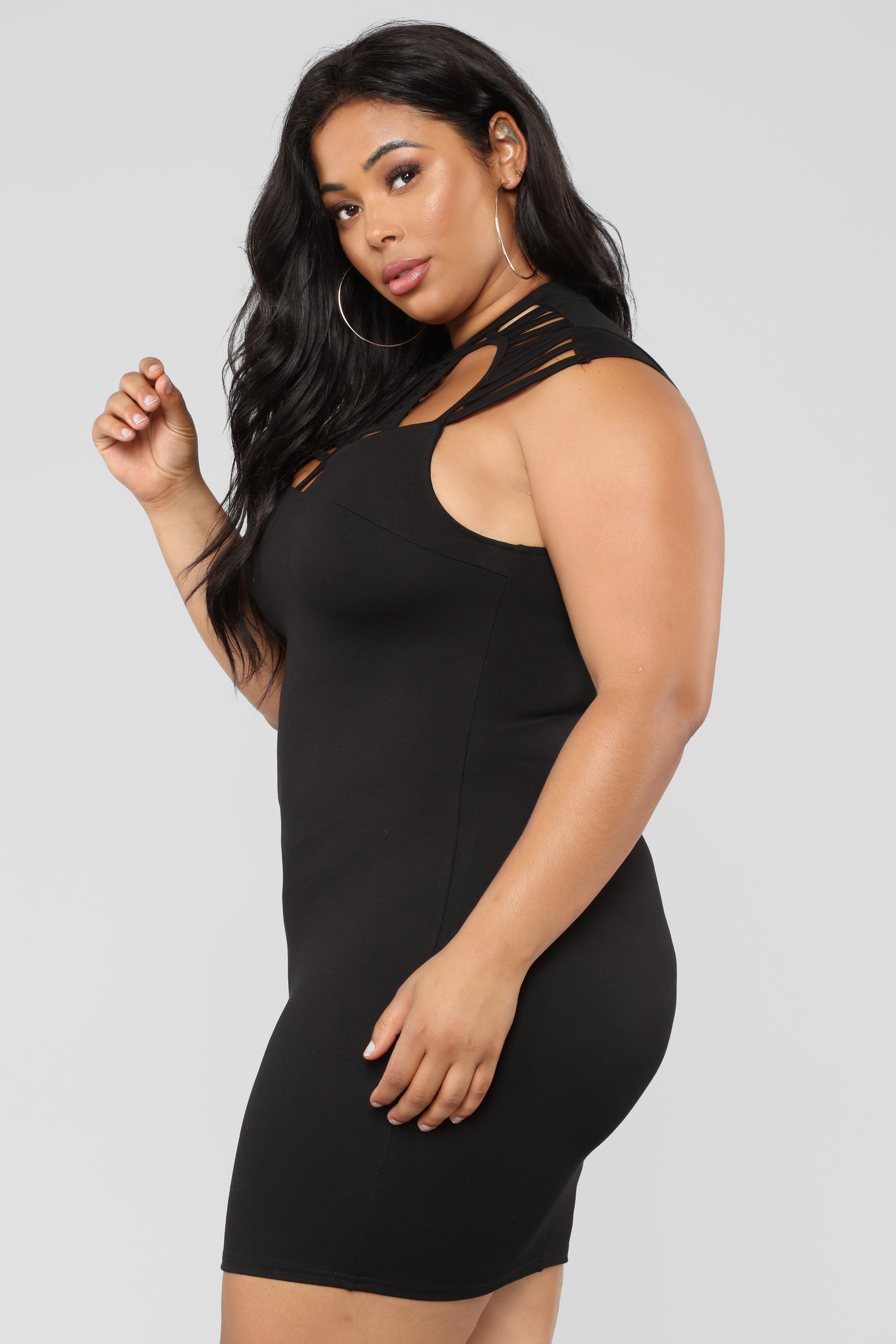 Stop And Stare Dress Black