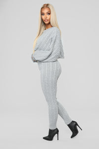 Meet Me Half Way Leggings - Heather Grey