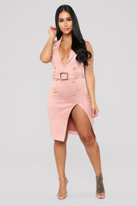 That Look In Your Eye Dress - Mauve