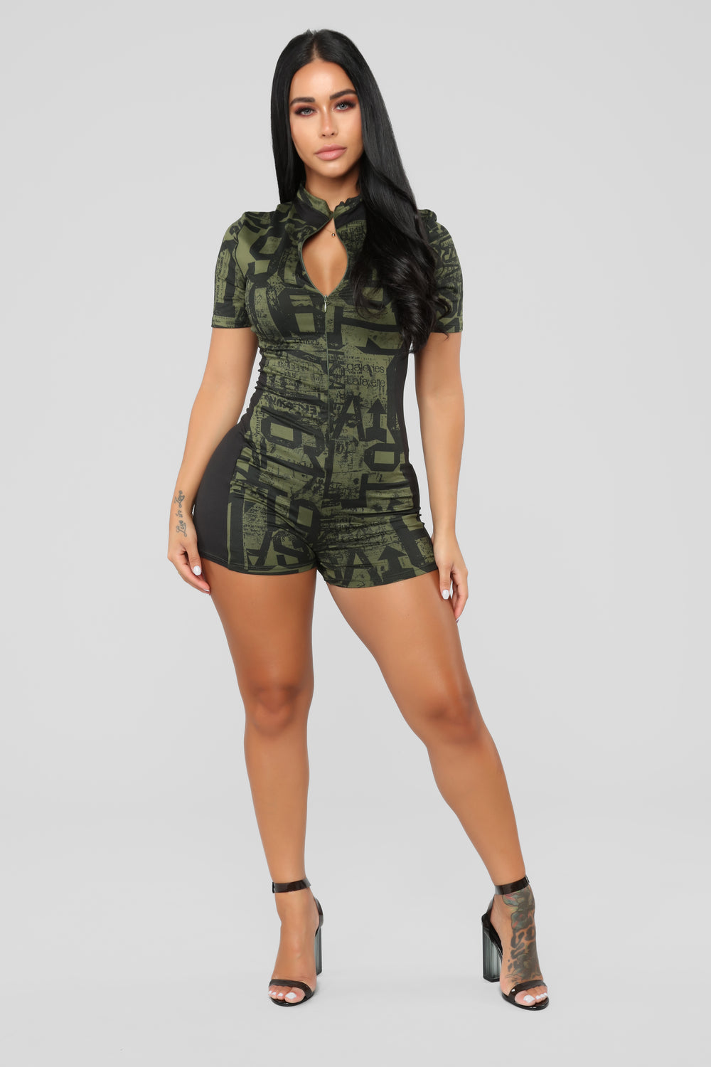 Nothin' Goin' On Romper - Olive