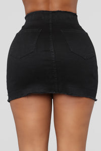 Favorite High Rise Studded Skirt - Black