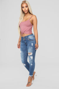 Callie Crop Top - Rose