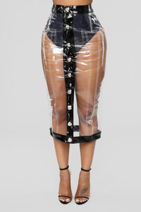 Seattle Days Skirt - Black/Clear
