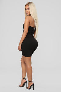 Zipping Along Dress - Black