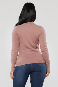 Doesn't Matter To Me Sweater - Mauve