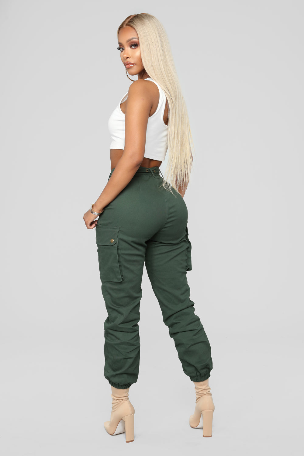 Cargo Chic Pants - Hunter Green