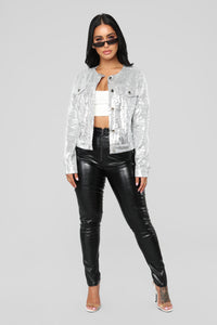 Star Chaser Sequin Jacket - Silver