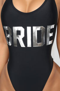 Bride Swimsuit - Silver Angle 2