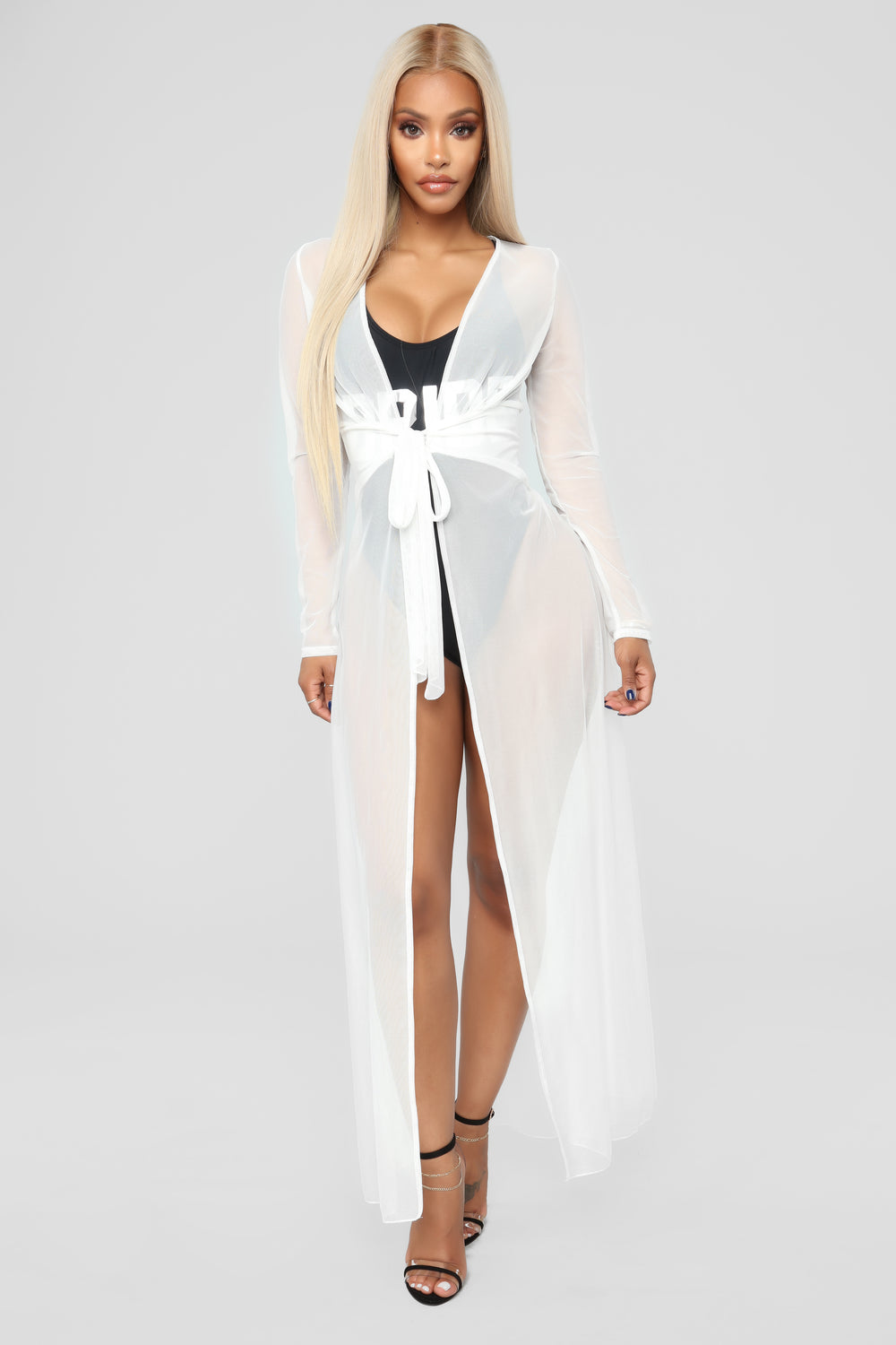 Old Flame Cover-Up Kimono - Off White