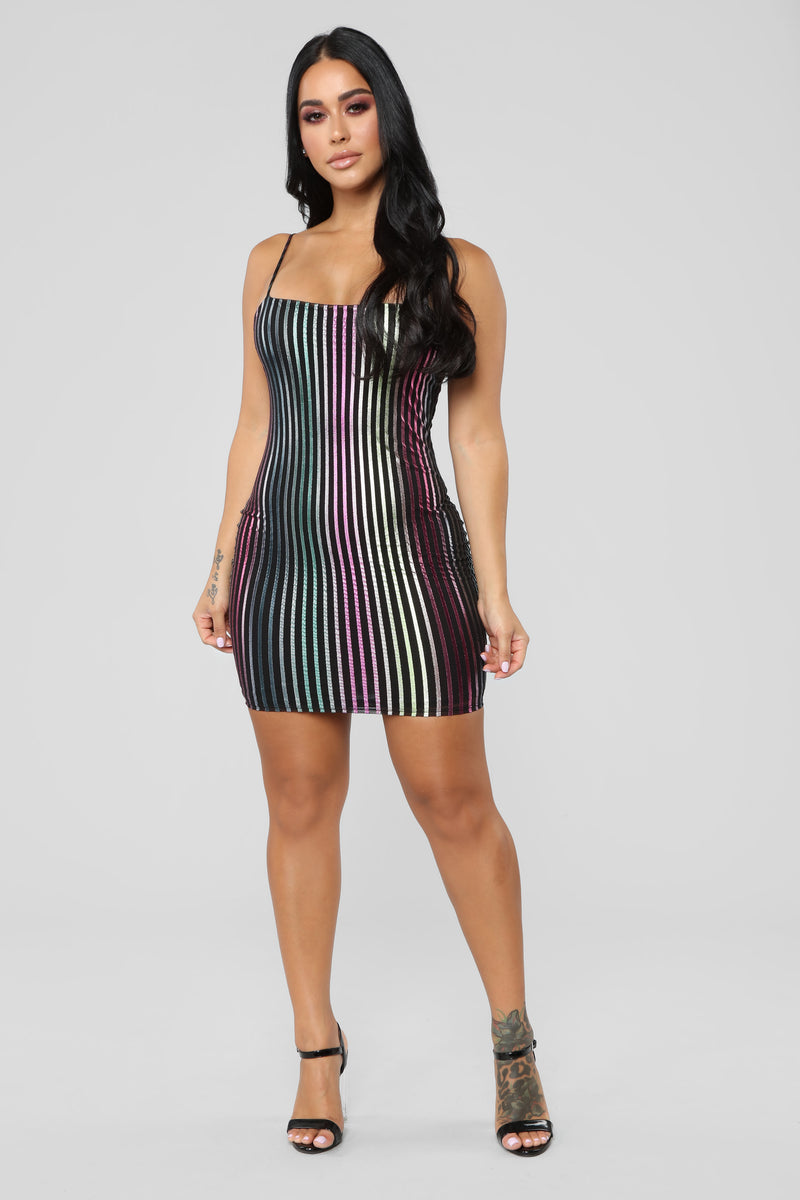 Alexis Stripe Dress - MultiColor