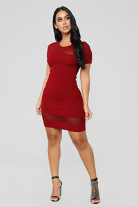The Thought Of You Dress - Dark Red
