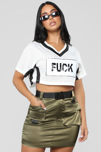 F'N Off Jersey Tee - White/Black