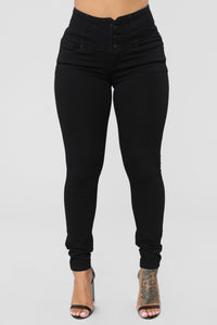 Don't Cross Me High Rise Jeans - Black