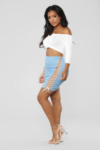 Sexy As Ever Skirt - Light Denim