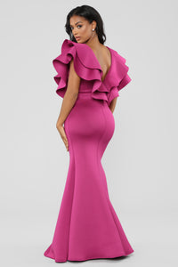 Taste The Salt Mermaid Dress - Magenta