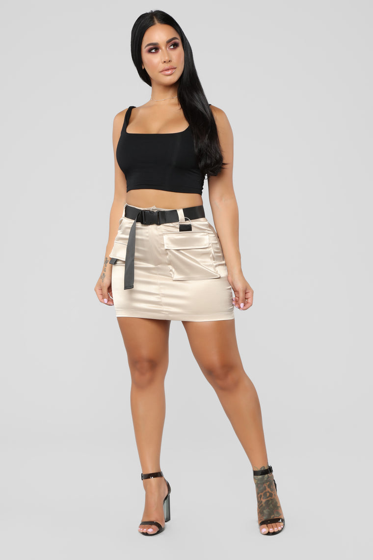 Blakely Cargo Skirt - Khaki