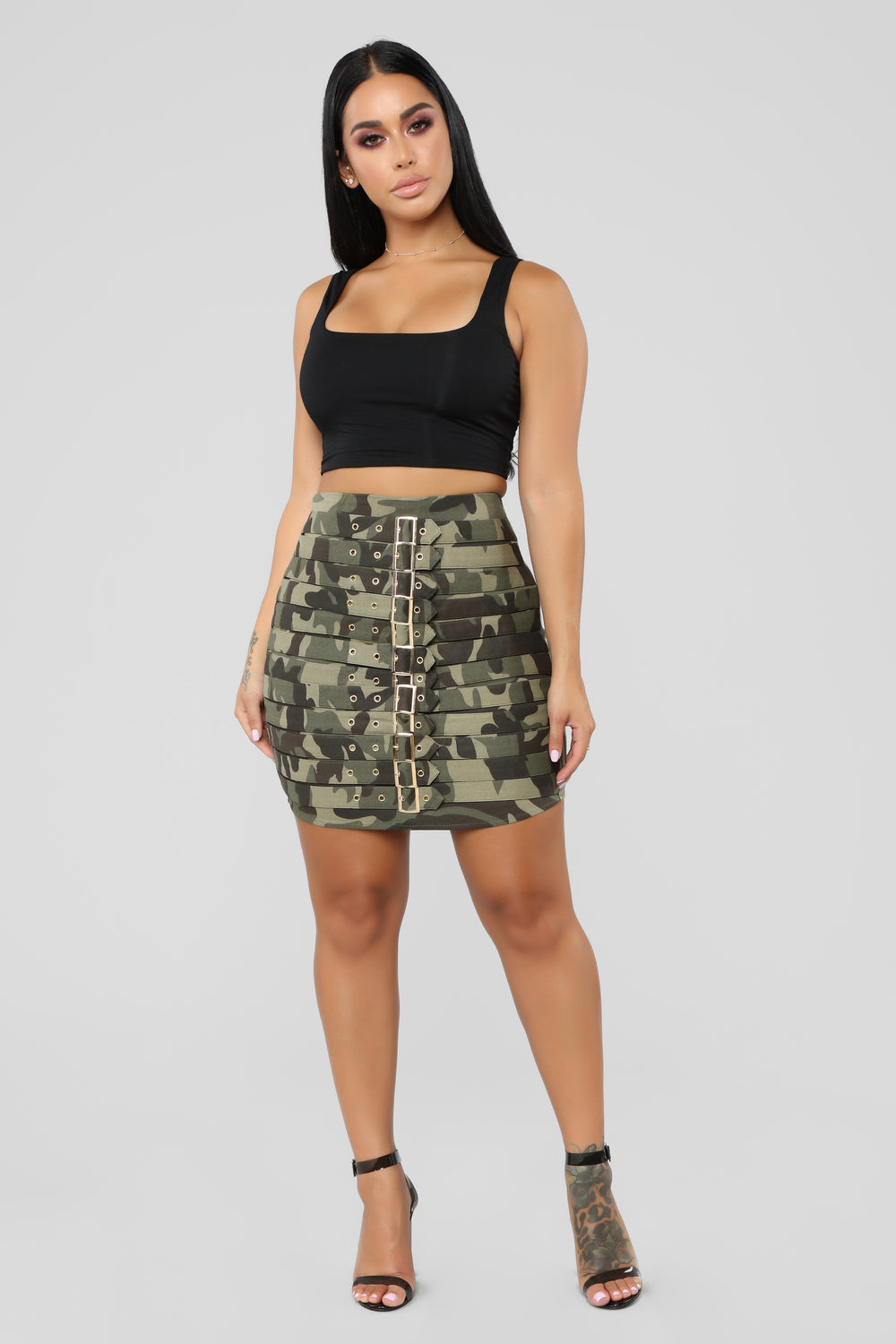 Ring The Alarm Skirt - Army