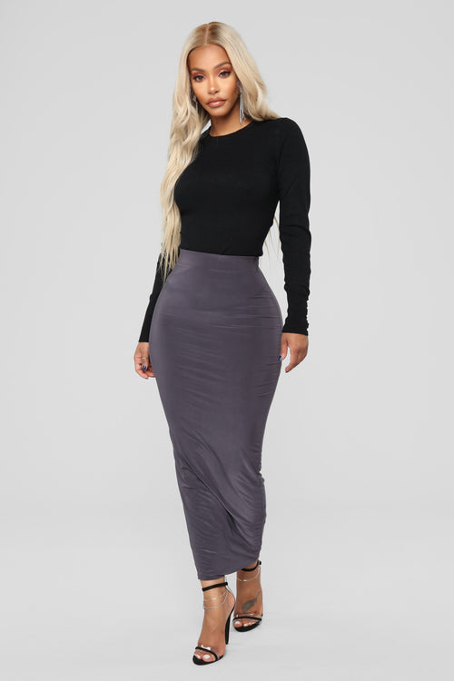 Across The Universe Skirt - Charcoal