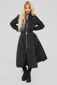 Nothing But Trouble Coat - Black