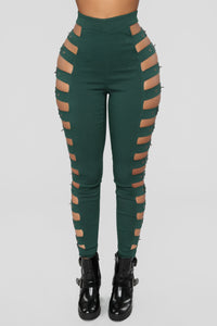 Irina Buckle Pants - Hunter
