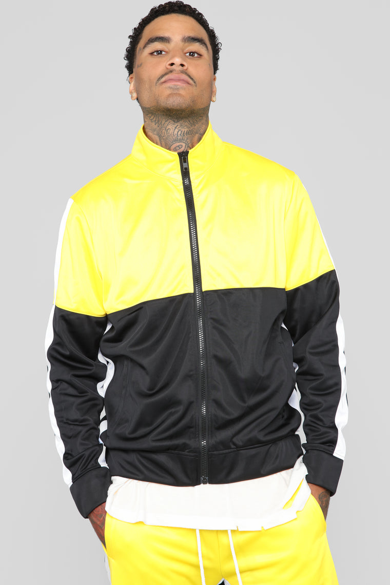 Smith Track Jacket - Black/Yellow
