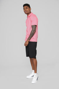 Leo Short Sleeve Polo - Red