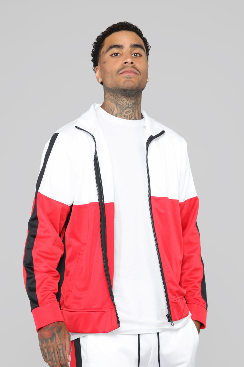 Smith Track Jacket - Red/White