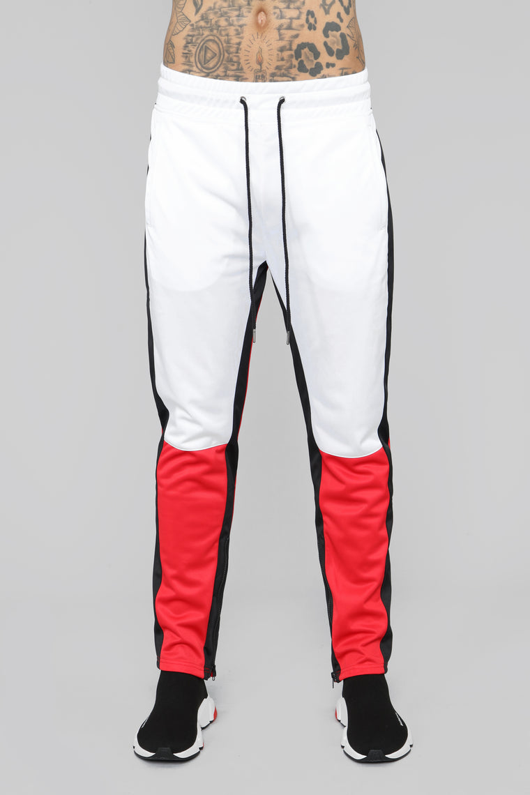 Smith Track Pant - Red/White