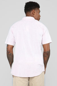 Max Short Sleeve Woven Top - Pink